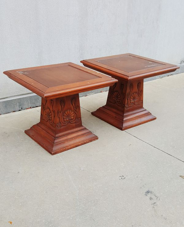 Vintage Hekman Italian Vineyard Solid Wood End Tables Furniture in