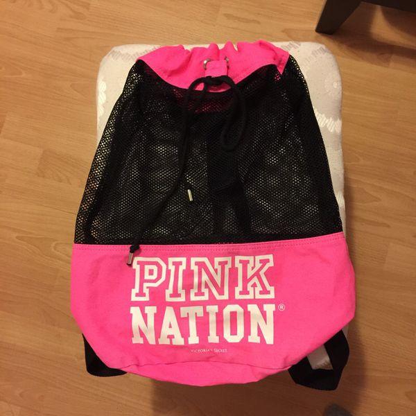 Victorias secret pink nation mesh backpack bag tote ( Sports ...
