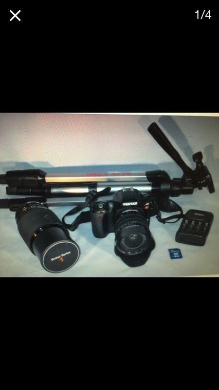 Pentax Ist Camera Bundle 2 Lens Tripod Sd Card