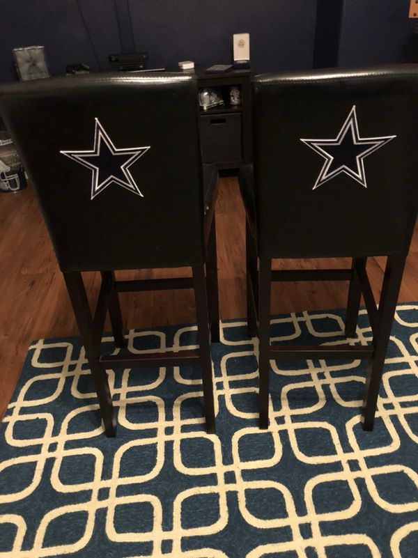 Dallas cowboys leather pub table chairs furniture in spring tx dallas cowboys leather pub table chairs watchthetrailerfo
