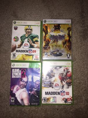 Xbox 360 videos games and one controller