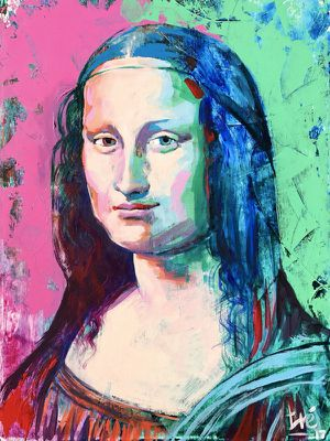 Contemporary Painting of Mona Lisa