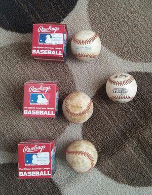 Rawlings American League Baseballs/Used