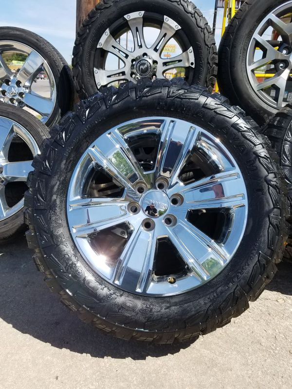 20 Gmc Wheels >> 20 Gmc Chrome Oem Wheels On A Set Of 33 Mts Auto Parts In San