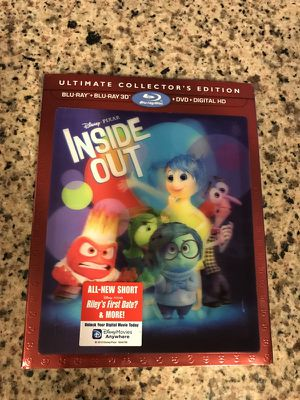 3D Blu-Ray Inside Out UNOPENED