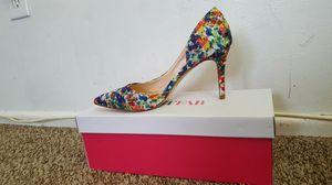 JustFab Printed Floral Heels