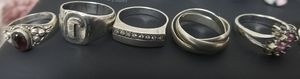 5 silver ring 925 italian Size 6