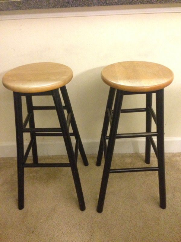 Two Bar stool wood 75cm height