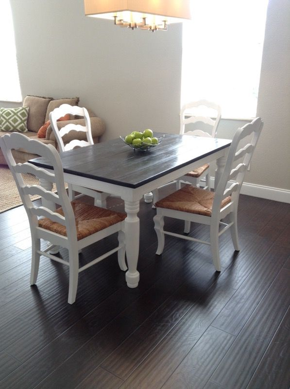 Farmhouse Dining Table 4 Chairs