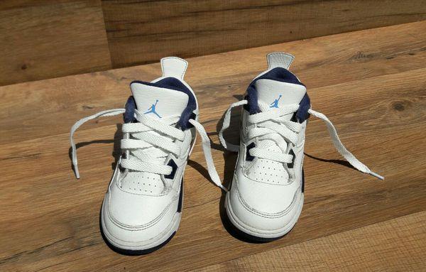 Nike Air Jordan 707432-107 Retro 4 Toddler Basketball Shoes size 9c