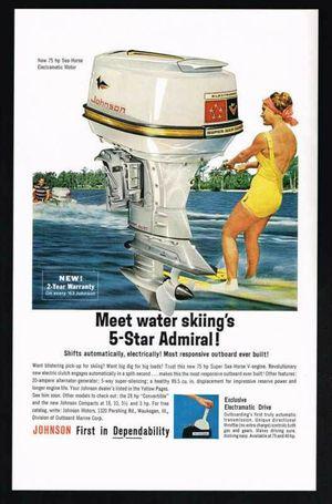 1962 Super Sea Horse Johnson 70 hp
