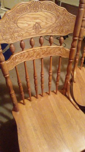 Authentic Solid wood dining table w/4 chairs