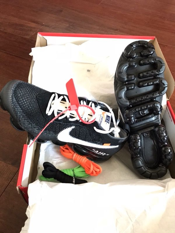 The 10: Nike Air Vapormax Flyknit x Off-White by Virgil Abloh size 10  (Clothing & Shoes) in Houston, TX