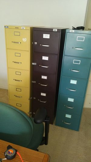 Steelcase 5 Drawer File cabinets
