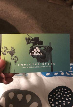 Addidas employee store pass