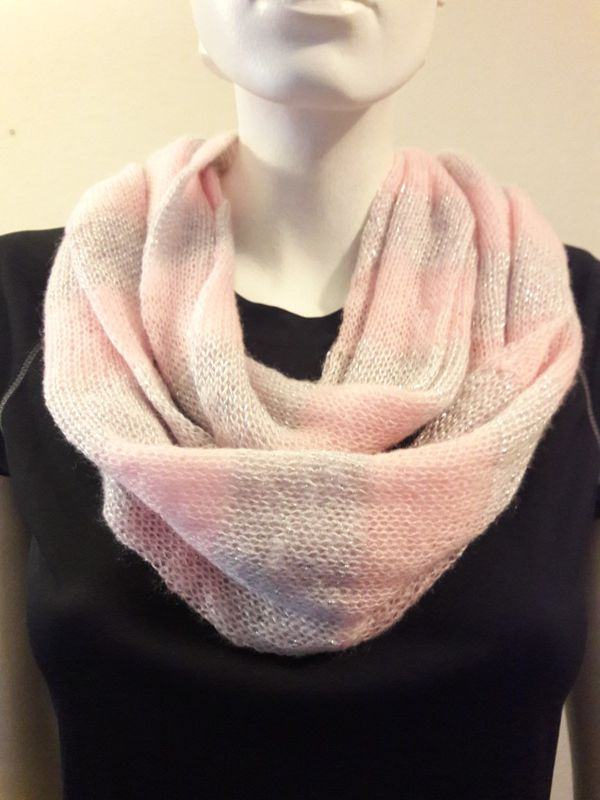 pink infinity bridal qlas winter il listing wedding knit scarf