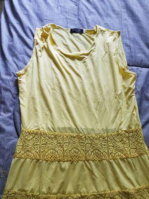 Womens new yellow dress size m