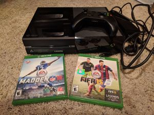 Xbox one with controller & Fifa15 & Madden16