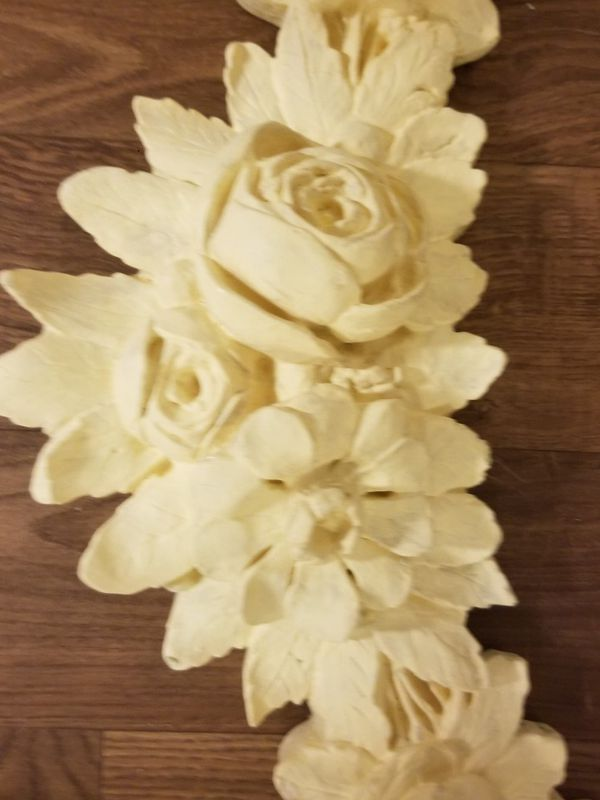 Fine Ceramic Wall Flower Decor Crest - Wall Art Collections ...