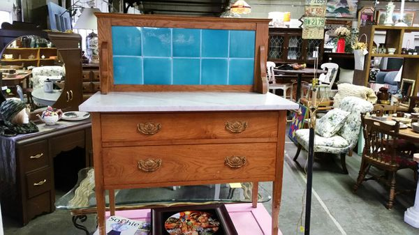 Furniture Consignment Asheville Nc ... Washstand w/ Tile Backsplash ( Antiques ) in Asheville, NC - OfferUp