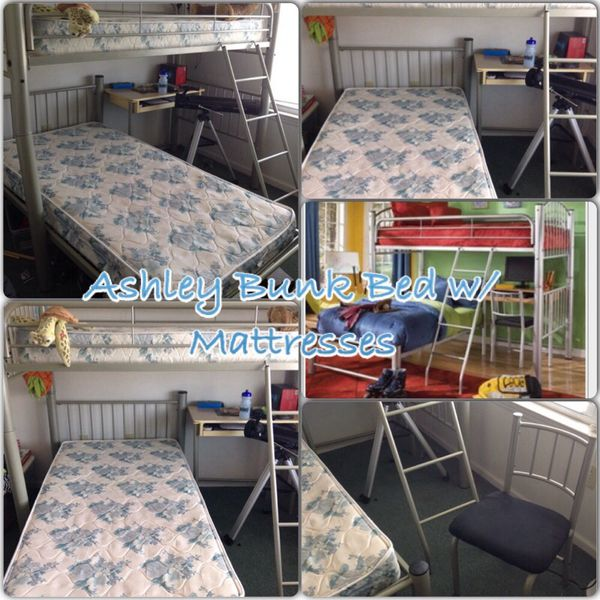 Ashley Twin Bunk Bed W Desk Furniture In Newark Nj Offerup