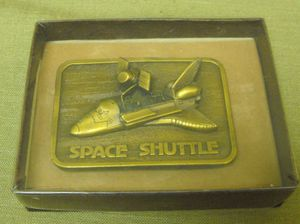 Vintage Space Shuttle Belt Buckle