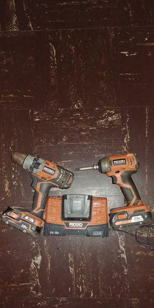 RIDGID 18v Inpac Drill Hammer Drill With Chager