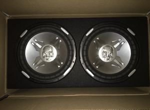 """2 12inch 1000 RMS Power Acoustik PS3 Subwoofers with Dual 12"""" 3/4 MDF Sealed Subwoofer Enclosure"""