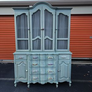 Gorgeous French Style China Cabinet
