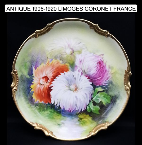ANTIQUE LIMOGES CORONET FRANCE Gold Rococo Plate (Collectibles) in ...