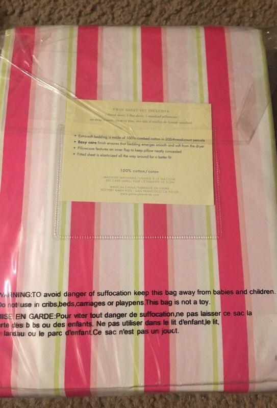 Twin Pottery Barn Sheet Set Furniture In San Jose Ca Offerup