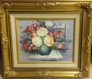 Oil painting - wooden frame