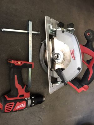 "Milwaukee 18-Volt 6 1/2"" circular saw and 1/2"" Driver Drill (Tools Only)"