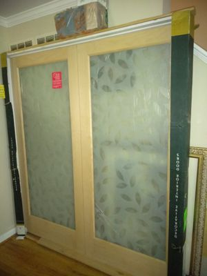 I have a nice interior French door with decoration 73 1/2 X 82 1/4