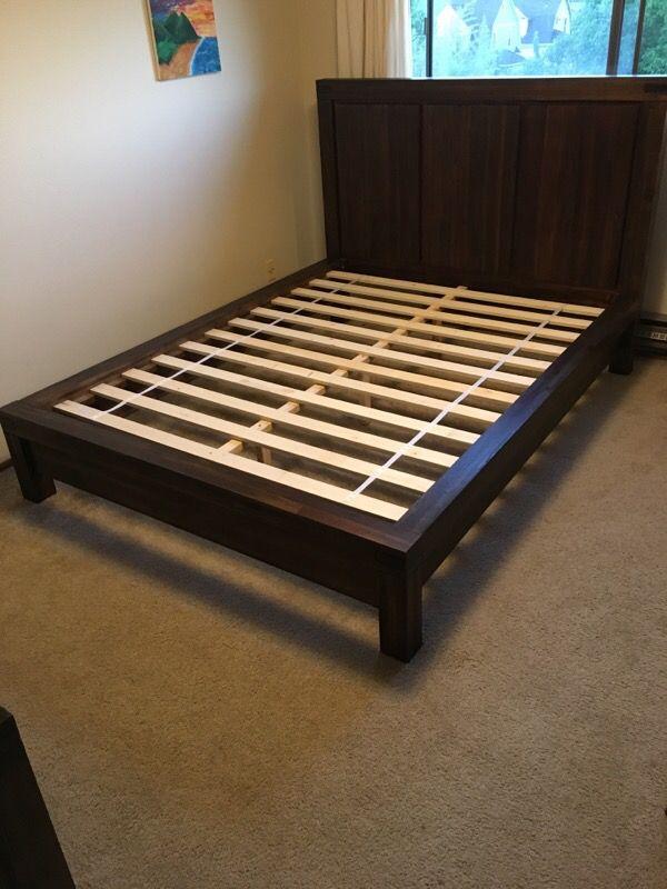 Bedroom Set Queen Platform Bed Dresser Mirror Nightstand Furniture In Seattle Wa Offerup