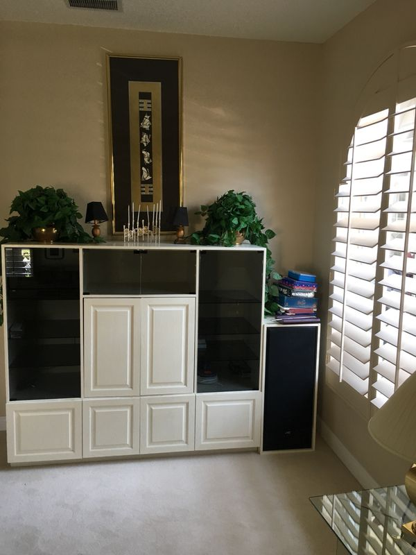 Wall unit with 2 speakers (Furniture) in Boca Raton, FL - OfferUp