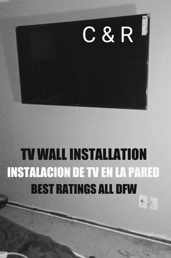 TV WALL MOUNTING/ COLGAMOS TV EN LA PARED BEST RATINGS ALL DFW ...