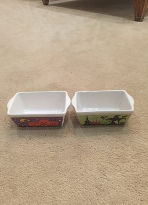 Set of two Halloween small loaf dishes