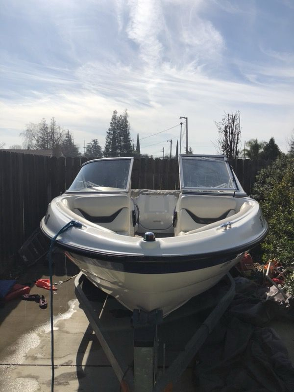 2004 Bayliner 185. 4.3 Mercury inboard/outboard V6 engine. Fulton  galvanized trailer with a swing tongue hitch. Details enclosed (Boats &  Marine) in Modesto ...