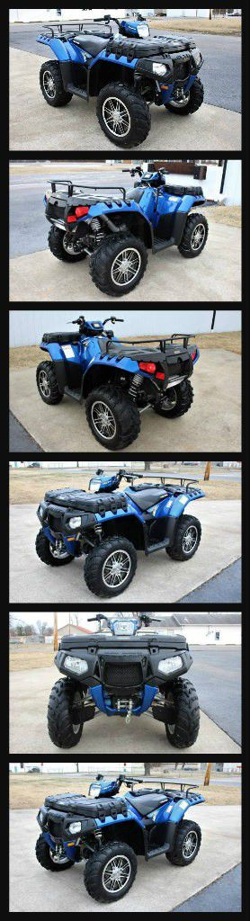 2012 Polaris Sportsman 850 Xps Blue