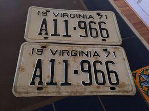 1971 Antique VA Plates