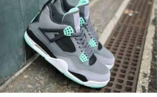half off 7d1f1 5802e turquoise green jordans 4s