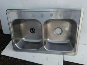 Sink 4 Of 6 Avail. SS. 2 Basin. 4 Hole. 33x22.