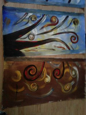 4 panel original painting signed by artist