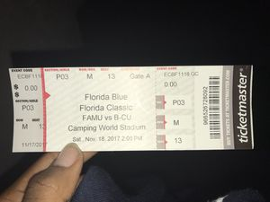 Florida Classic Game Ticket (for November 18, 2017)