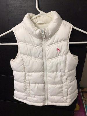 Old Navy girls white puffer vest