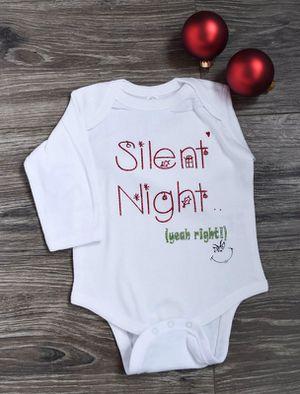 Funny Baby Christmas Onesie