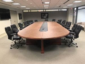 24'x9' executive conference table