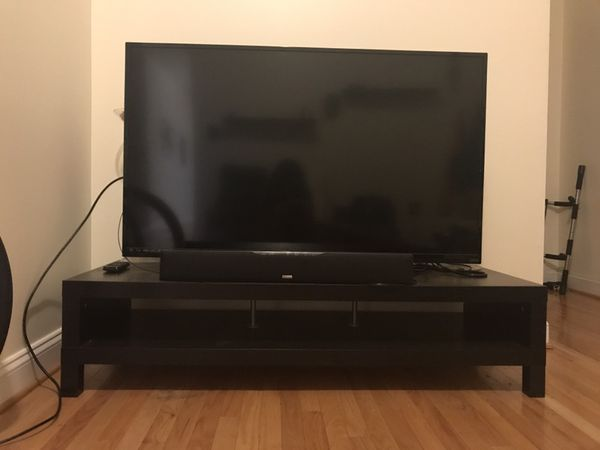 50 in TV (vizio) with table