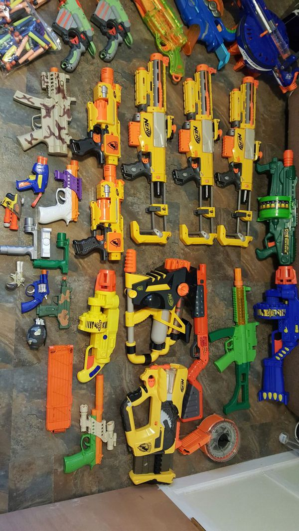 9 of 11 NERF Gun Lot 13 Guns CS 6 12 35 Longstrike Rampage Raider Deploy  Maverick +Ammo